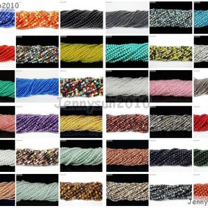 Natural-Gemstones-2mm-3mm-Round-Spacer-Seed-Beads-155-Jewelry-Design-Crafts-371107996973