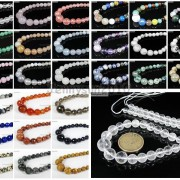 Natural-Gemstones-6mm-14mm-Faceted-Round-Graduated-Loose-Beads-17-Pick-Stone-370935188818