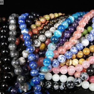 Natural-Gemstones-75mm-8mm-85mm-Round-Loose-Beads-15-16-Pick-Stone-261358352741
