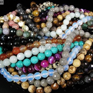 Natural-Gemstones-8mm-Faceted-Round-Loose-Beads-Strand-15-16-Pick-Stone-370978405431