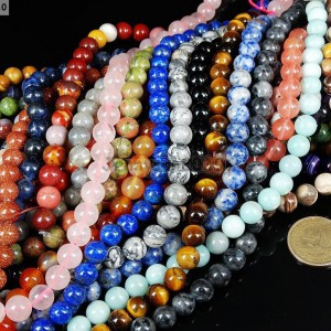 Natural-Gemstones-95mm-10mm-105mm-Round-Loose-Beads-15-16-Pick-Stone-281283029985