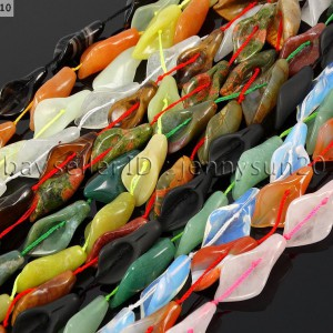 Natural-Gemstones-Carved-Calla-Lily-Flower-Loose-Spacer-Beads-Jewelry-Design-371371940433
