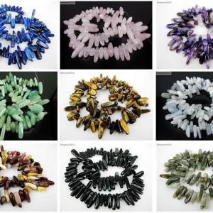Natural-Gemstones-Freeformed-Stick-Beads-16-For-Bracelet-or-Necklace-Making-281164804633