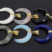 Natural-Gemstones-Gold-Plated-Crescent-Moon-Pendant-Charm-Beads-Healing-282290274301-2