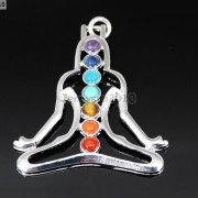 Natural-Gemstones-Healing-Reiki-Chakra-Meditating-Figure-Pendant-Charm-Beads-261678663801