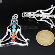 Natural-Gemstones-Healing-Reiki-Chakra-Meditating-Figure-Pendant-Charm-Beads-261678663801-3