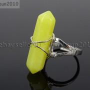 Natural-Gemstones-Hexagonal-Pointed-Reiki-Chakra-Beads-Adjustable-Ring-Healing-371063374753-0385
