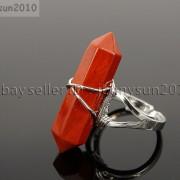 Natural-Gemstones-Hexagonal-Pointed-Reiki-Chakra-Beads-Adjustable-Ring-Healing-371063374753-1c98
