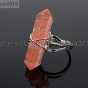 Natural-Gemstones-Hexagonal-Pointed-Reiki-Chakra-Beads-Adjustable-Ring-Healing-371063374753-380c