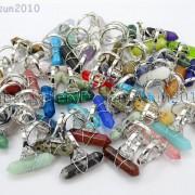 Natural-Gemstones-Hexagonal-Pointed-Reiki-Chakra-Beads-Adjustable-Ring-Healing-371063374753-4