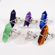 Natural-Gemstones-Hexagonal-Pointed-Reiki-Chakra-Beads-Adjustable-Ring-Healing-371063374753-5