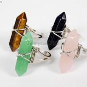 Natural-Gemstones-Hexagonal-Pointed-Reiki-Chakra-Beads-Adjustable-Ring-Healing-371063374753-6