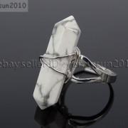 Natural-Gemstones-Hexagonal-Pointed-Reiki-Chakra-Beads-Adjustable-Ring-Healing-371063374753-6afc