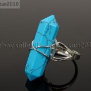 Natural-Gemstones-Hexagonal-Pointed-Reiki-Chakra-Beads-Adjustable-Ring-Healing-371063374753-7619