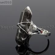 Natural-Gemstones-Hexagonal-Pointed-Reiki-Chakra-Beads-Adjustable-Ring-Healing-371063374753-86cb