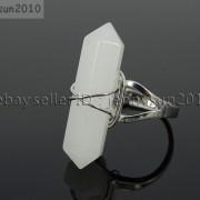 Natural-Gemstones-Hexagonal-Pointed-Reiki-Chakra-Beads-Adjustable-Ring-Healing-371063374753-9cac