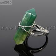 Natural-Gemstones-Hexagonal-Pointed-Reiki-Chakra-Beads-Adjustable-Ring-Healing-371063374753-a8b0