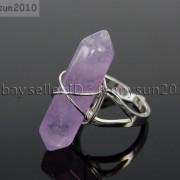 Natural-Gemstones-Hexagonal-Pointed-Reiki-Chakra-Beads-Adjustable-Ring-Healing-371063374753-aa52