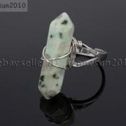 Natural-Gemstones-Hexagonal-Pointed-Reiki-Chakra-Beads-Adjustable-Ring-Healing-371063374753-abd2