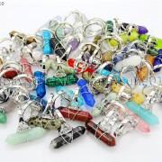 Natural-Gemstones-Hexagonal-Pointed-Reiki-Chakra-Beads-Adjustable-Ring-Healing-371063374753-bb55