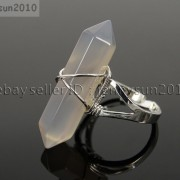 Natural-Gemstones-Hexagonal-Pointed-Reiki-Chakra-Beads-Adjustable-Ring-Healing-371063374753-dd35