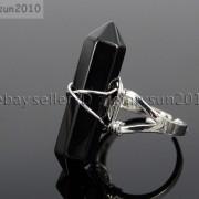 Natural-Gemstones-Hexagonal-Pointed-Reiki-Chakra-Beads-Adjustable-Ring-Healing-371063374753-e99f
