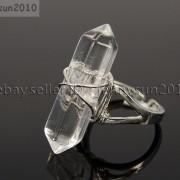 Natural-Gemstones-Hexagonal-Pointed-Reiki-Chakra-Beads-Adjustable-Ring-Healing-371063374753-ee7b