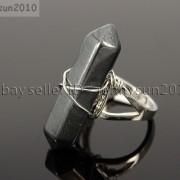 Natural-Gemstones-Hexagonal-Pointed-Reiki-Chakra-Beads-Adjustable-Ring-Healing-371063374753-f4e5