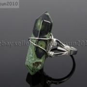 Natural-Gemstones-Hexagonal-Pointed-Reiki-Chakra-Beads-Adjustable-Ring-Healing-371063374753-f4f1