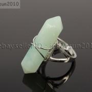 Natural-Gemstones-Hexagonal-Pointed-Reiki-Chakra-Beads-Adjustable-Ring-Healing-371063374753-f9eb