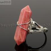 Natural-Gemstones-Hexagonal-Pointed-Reiki-Chakra-Beads-Adjustable-Ring-Healing-371063374753-fade