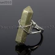 Natural-Gemstones-Hexagonal-Pointed-Reiki-Chakra-Beads-Adjustable-Ring-Healing-371063374753-fc0e