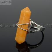 Natural-Gemstones-Hexagonal-Pointed-Reiki-Chakra-Beads-Adjustable-Ring-Healing-371063374753-ffaf