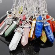 Natural-Gemstones-Hexagonal-Pointed-Reiki-Chakra-Pendant-18K-Silver-Necklace-371161184260-3