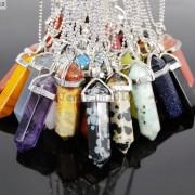 Natural-Gemstones-Hexagonal-Pointed-Reiki-Chakra-Pendant-18K-Silver-Necklace-371161184260-4