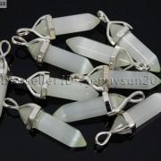 Natural-Gemstones-Hexagonal-Pointed-Reiki-Chakra-Pendant-18K-Silver-Necklace-371161184260-6fbc