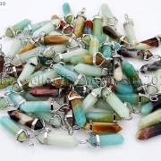 Natural-Gemstones-Hexagonal-Pointed-Reiki-Chakra-Pendant-18K-Silver-Necklace-371161184260-a4d7