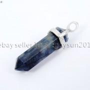 Natural-Gemstones-Hexagonal-Pointed-Reiki-Chakra-Pendant-18K-Silver-Necklace-371161184260-c6b8
