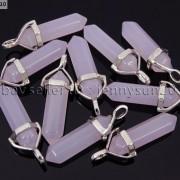 Natural-Gemstones-Hexagonal-Pointed-Reiki-Chakra-Pendant-18K-Silver-Necklace-371161184260-f7fd