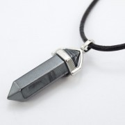 Natural-Gemstones-Hexagonal-Pointed-Reiki-Chakra-Pendant-Real-Leather-Necklace-371097486278-817e