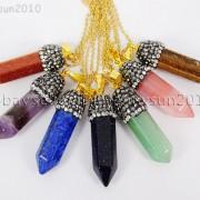 Natural-Gemstones-Hexagonal-Pointed-Reiki-Chakra-Rhinestones-Pendant-Necklace-371488074628-2