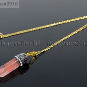 Natural-Gemstones-Hexagonal-Pointed-Reiki-Chakra-Rhinestones-Pendant-Necklace-371488074628-975e