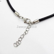 Natural-Gemstones-Long-Hexagonal-Pointed-Reiki-Chakra-Pendant-Leather-Necklace-371174630740-7