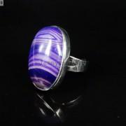 Natural-Gemstones-Oval-Cabochon-Flat-Back-Bead-Adjustable-Silver-Plated-Ring-261496534839-8bcb