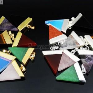 Natural-Gemstones-Triangle-Pointed-Sliced-Reiki-Chakra-Healing-Pendant-Beads-371176541508