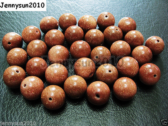 Natural-Gold-or-Blue-Sand-Gemstone-Round-Beads-155-2mm-4mm-6mm-8mm-10mm-12mm-251083147368