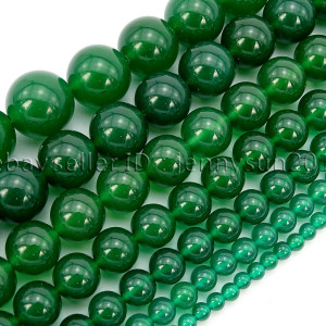 Natural-Green-Agate-Gemstone-Round-Beads-15-4mm-6mm-8mm-10mm-12mm-14mm-16mm-282062422877