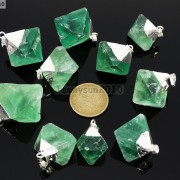 Natural-Green-Fluorite-Gemstone-Oval-Octagonal-Pendant-Charm-Beads-Necklace-Gold-261880887542-3