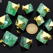 Natural-Green-Fluorite-Gemstone-Oval-Octagonal-Pendant-Charm-Beads-Necklace-Gold-261880887542-4