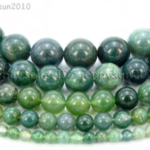 Natural-Green-Moss-Agate-Gemstone-Round-Beads-15-Strand-4mm-6mm-8mm-10mm-12mm-262196641615